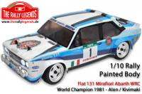Body - 1/10 Rally - Scale - Painted - Fiat 131 WRC