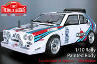 Body - 1/10 Rally - Scale - Painted - Lancia Delta S4