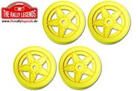 Wheels - 1/10 Rally - Stratos - Yellow (4 pcs)