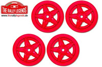Wheels - 1/10 Rally - Stratos - Red (4 pcs)