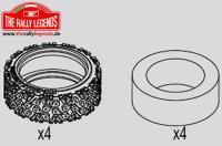 Tires - 1/10 Rally (4 pcs)