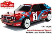 Auto - 1/10 Electrique - 4WD Rally - RTR - Lancia Delta Integrale Rouge