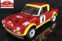 Car - 1/10 Electric - 4WD Rally - RTR - Fiat 124 Abarth 1975