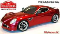 Body - 1/10 Touring - Scale - Painted - Alfa Romeo 8C with stickers and accessories