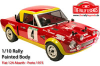 Body - 1/10 Rally - Scale - Painted - Fiat 124 Abarth