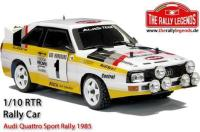 Car - 1/10 Electric - 4WD Rally - RTR - Waterproof ESC - Audi Quattro Sport Rally 1985