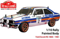 Body - 1/10 Rally - Scale - Painted - Ford Escort RS 1800 1981