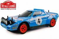 Body - 1/10 Rally - Scale - Clear - Lancia Stratos Chardonnet with stickers and accessories