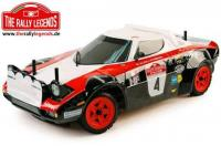 Body - 1/10 Rally - Scale - Clear - Lancia Stratos 1978 with stickers and accessories