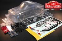 Body - 1/10 Rally - Scale - Clear - Fiat 124 with stickers and accessories