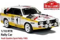 Car - 1/10 Electric - 4WD Rally - ARTR - Waterproof ESC - Audi Quattro Sport Rally 1985 - CLEAR Body