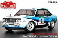 Car - 1/10 Electric - 4WD Rally - ARTR - Waterproof ESC - Fiat 131 Abarth 1978 WRC - PAINTED Body
