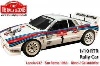 Car - 1/10 Electric - 4WD Rally - ARTR - Waterproof ESC - Lancia 037 MKII - CLEAR Body