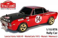 Car - 1/10 Electric - 4WD Rally - ARTR - Waterproof ESC - Lancia Fulvia 1600 HF MonteCarlo 1972 - PAINTED Body
