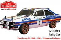 Car - 1/10 Electric - 4WD Rally - ARTR - Waterproof ESC - Ford Escort RS 1800 1981 - PAINTED Body