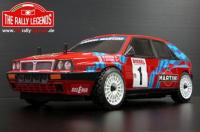 Car - 1/10 Electric - 4WD Rally - ARTR - Waterproof ESC - Lancia Delta Integrale Red - PAINTED Body