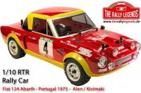 Auto - 1/10 Elektrisch - 4WD Rally - ARTR - Wasserdicht Regler - Fiat 124 Abarth 1975 - LACKIERT Karosserie