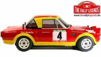 Car - 1/10 Electric - 4WD Rally - ARTR - Waterproof ESC - Fiat 124 Abarth 1975 - PAINTED Body