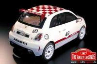 Car - 1/10 Electric - 4WD Touring - ARTR - Waterproof ESC - Abarth 500 Challenge - CLEAR Body