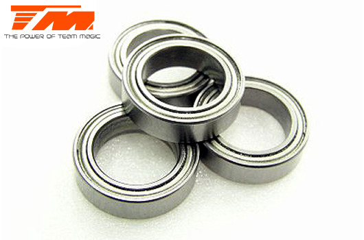 Team Magic - 151015ST - Ball Bearings - metric - 10x15x4mm (4 pcs)
