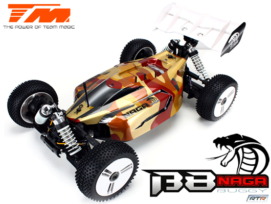 Team Magic - TM560012 - Car - 1/8 Electric - 4WD Buggy - RTR - 2.4gHz - 2650kv Brushless Motor - 4S - Team Magic B8 NAGA