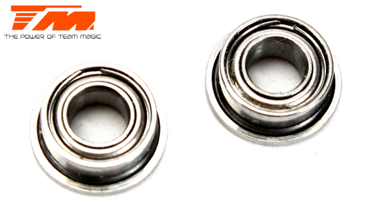 Team Magic - TM150306F - Ball Bearings - metric -  3x 6x2.5mm - Flanged (2 pcs)