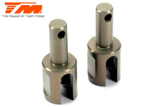 Team Magic - 507208 - Replacement Part - E4RS II EVO / E4RS III / E4RS4 - Aluminum - Light Weight Differential Joint (2 pcs)