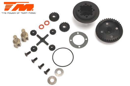 Team Magic - 507209 - Replacement Part - E4RS II / E4RS III / E4RS4 - Light Weight Gear Differential Set