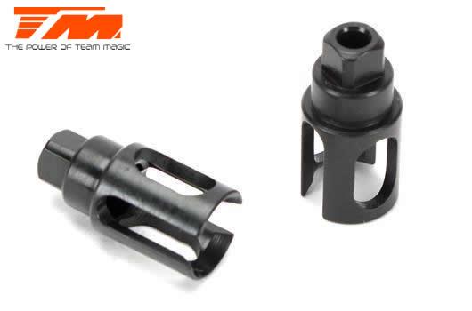 Team Magic - 507212 - Pièce détachée - E4RS II EVO / E4RS III / PLUS - Sorties acier pour axe rigide (2 pces)