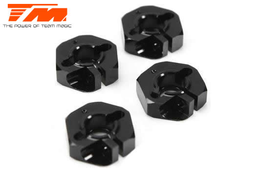 Team Magic - 507286 - Option Part - E4RS/JS/JR II / E4RS III / E4RS4 - Aluminum 7075 - Hex Wheel Adapter -0.75mm (4 pcs)