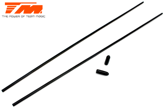 Team Magic - 115016BK - Antenna Tubes - Black (2 pcs)