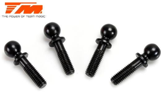 Team Magic - 503127BK - Replacement Part - E4 - Steering Block Ball Stud - Black (4 pcs)