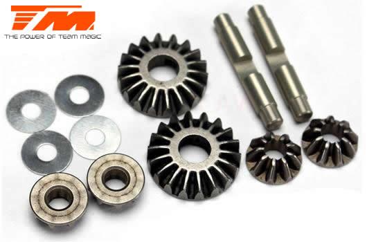 Team Magic - 507294 - Tuningteil - E4RS II EVO / E4JS/JR II / E4RS III / E4RS4 - Differential Kegelradsatz Metal (4+2)