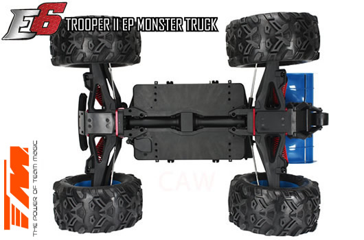 Car - 1/8 Electric - 4WD Monster Truck - RTR - 2.4gHz - Brushless - Waterproof - Team Magic E6 Trooper II