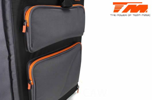 Tasche - Transport - Team Magic F8 Supra - mit Plastik Kästen und Rädern
