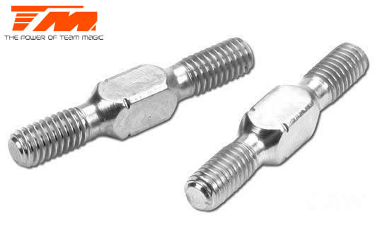 Team Magic - 116132AS - Adjustable Rod - Aluminium - 3.5mm Wrench - 3x 20mm (2 pcs)