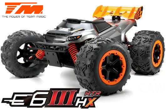 Team Magic - 505005 - Car - Monster Truck Electric - 4WD - RTR - Brushless 2500KV - 4S - Waterproof - Team Magic E6 III HX