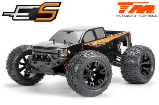 Team Magic - 510001 - Car - 1/10 Monster Truck Electric - 4WD - RTR - Brushless - Waterproof - Team Magic E5 - Black Body