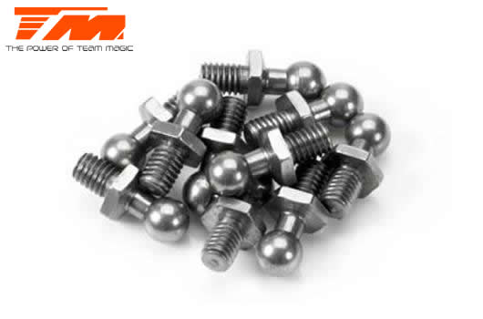 Team Magic - 115007 - Replacement Part - 4x4mm Ball Stud (10 pcs)
