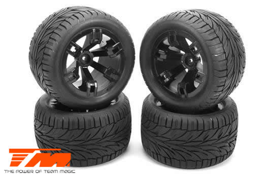Team Magic - 108002 - Tires - 1/10 Truck - mounted - E5 Street Style (4 pcs)