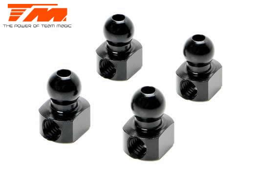 Team Magic - TM503123BK - Replacement Part - E4 - Aluminum 7075 - Anti-Roll Bar Ball - Black (4 pcs)