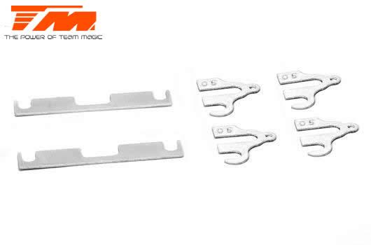 Team Magic - TM507615 - Option Part - E4RS4 - Suspension Mount Spacer Set 0.50mm V2 (2 pcs FF/RR and 4 pcs FR/RF)
