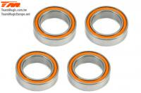 Ball Bearings - metric - 12x18x4mm Rubber sealed Orange (4 pcs)