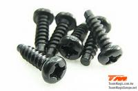 Screws - Button Head - Self Tapping - 3 x 10mm (6 pcs)