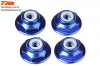 Nuts - 8-32 nyloc - Aluminum - Blue (4 pcs)