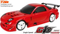 Car - 1/10 Nitro - 4WD Touring - RTR - Pull Start - 1-Speed - Team Magic G4D TC RX7