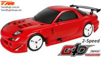 Car - 1/10 Nitro - 4WD Touring - RTR - Pull Start - 2-Speed - Team Magic G4D TC RX7