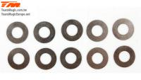 Washers -  6.2 x 12 x 0.15mm (10 pcs)