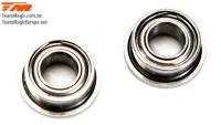 Ball Bearings - metric -  3x 6x2.5mm - Flanged (2 pcs)