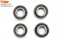 Ball Bearings - metric -  8x16x5mm Rubber sealed Black (4 pcs)